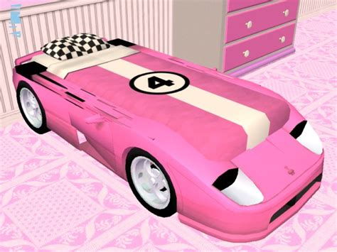 pink race car bed mod the sims pink racecar bed