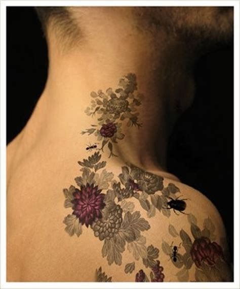 Tattoo Flower Neck | 1887tattoos flower tattoos on neck