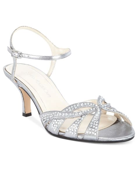 silver evening shoes caparros heirloom evening sandals in silver silver lame