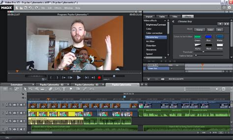 best chroma key software how to edit with chromakey green screen in magix edit