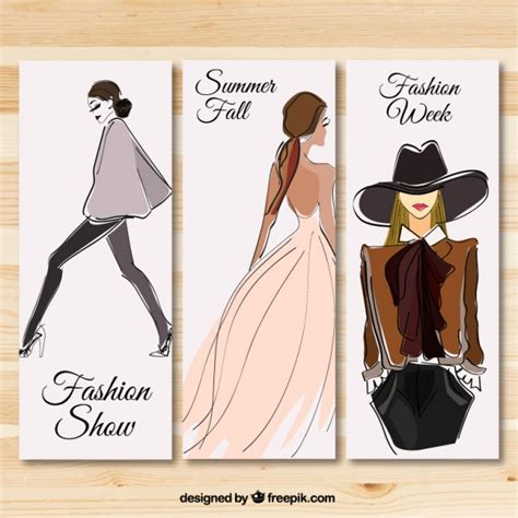 design fashion banner fashion show banners vector free download
