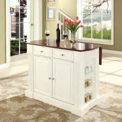 crosley furniture drop leaf breakfast bar top kitchen arranging white door small kitchen island amp cupboard idea
