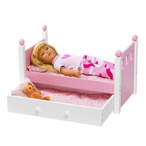 For American Girl Doll Single Bed Trundle Fits 46cm Bed For American Doll