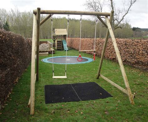 double swing frame double swing frame wooden garden play equipment