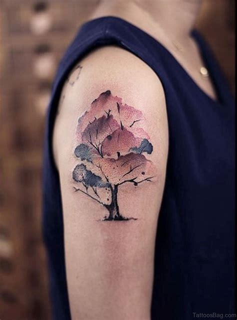 watercolor tattoo with black outline 34 wonderful magnolia tattoos on shoulder