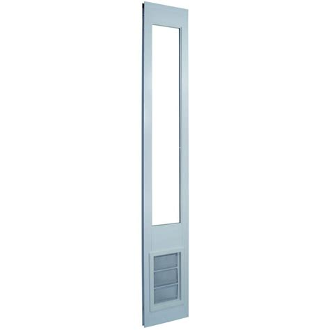 Vinyl Patio Pet Door Ideal Pet 10 25 In X 15 75 In Large White Vinyl Pet Patio Door Fits 92 75 In To 94 5 In