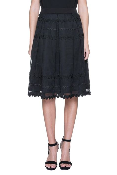 7 Black Skirts by Factory Pleated Midi Skirt From Virginia By Mod