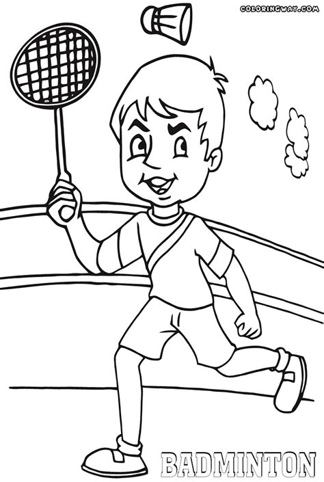 badminton coloring pages coloring pages to download and