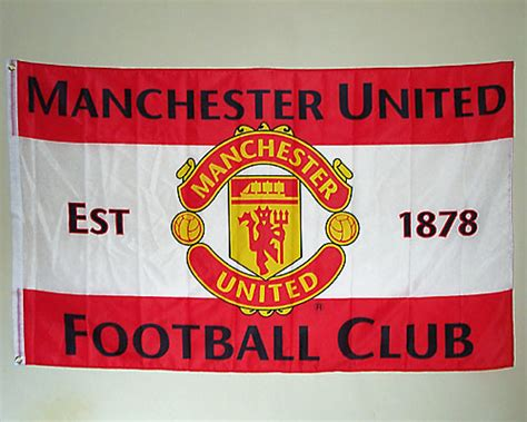 Manchester United 1878 official manchester united f c flag est 1878 approx