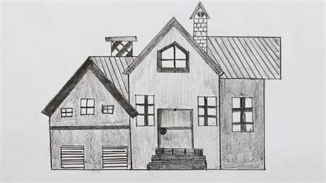 easy house drawing drawings in pencil program plan