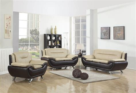 beige leather living room set beige and brown contemporary living room set