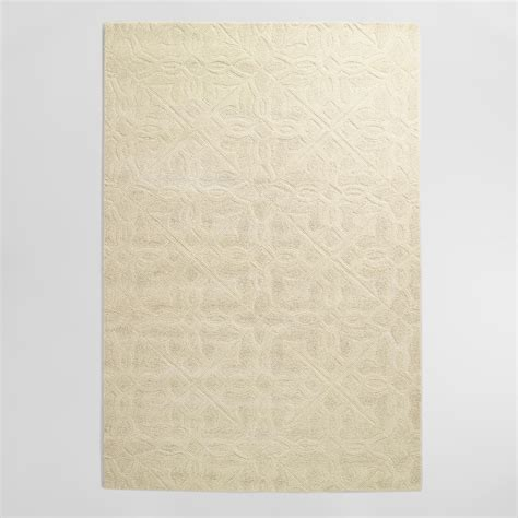 wool rug ivory classic carved wool rug world market