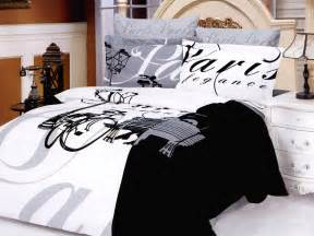 theme comforter themed bedding themed bedding in black and white eiffel tower bedding set