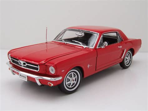 Mustang Auto Rot by Ford Mustang Coupe 1964 5 Rot Modellauto 1 18 Welly