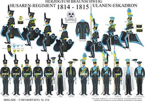 tafel braunschweig tafel 219 herzogtum braunschweig husaren regiment und
