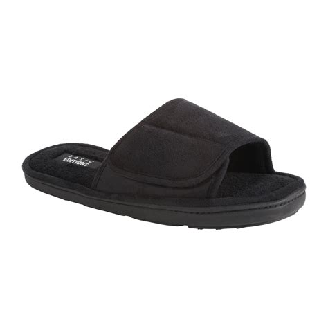 open toed slippers basic editions s heffner open toe slide slipper black