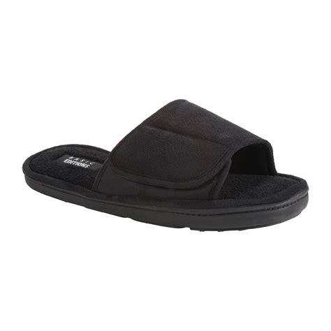 mens open toe slippers basic editions s heffner open toe slide slipper black
