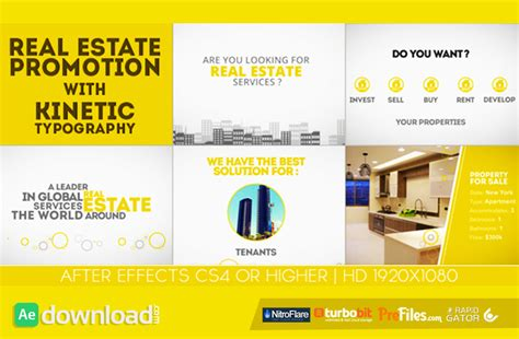 how to purchase after effects templates from videohive real estate promotion with kinetic typography videohive
