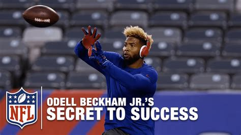 jr secret odell beckham jr s secret to success nfl