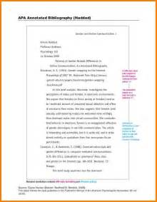 annotated bibliography guidelines apa