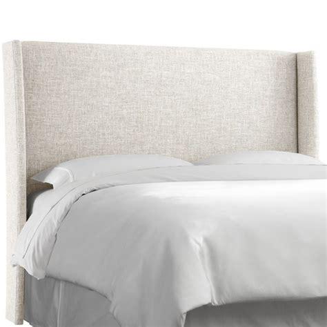white upholstered headboard king skyline upholstered wingback king headboard in white