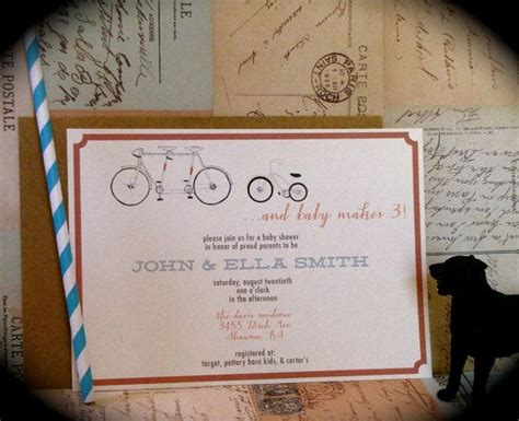 Bicycle Baby Shower Invitations by Bicycle Baby Shower Invitation 5x7 20 Printed Sets