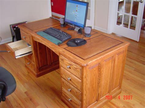 build wood desk plans free diy popular mechanics diy