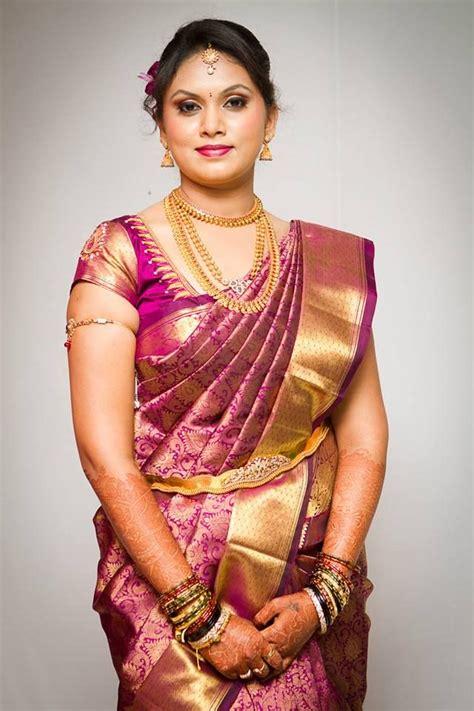 south indian saree draping south indian bride bridal makeup saree and jewellery