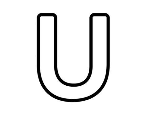 u of a colors letter u coloring pages