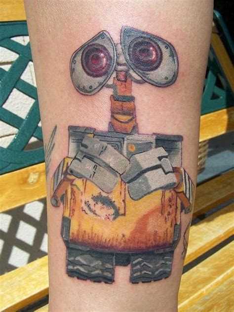 cartoon robot tattoo 3d animation characters perform on skin in pixar tattoos