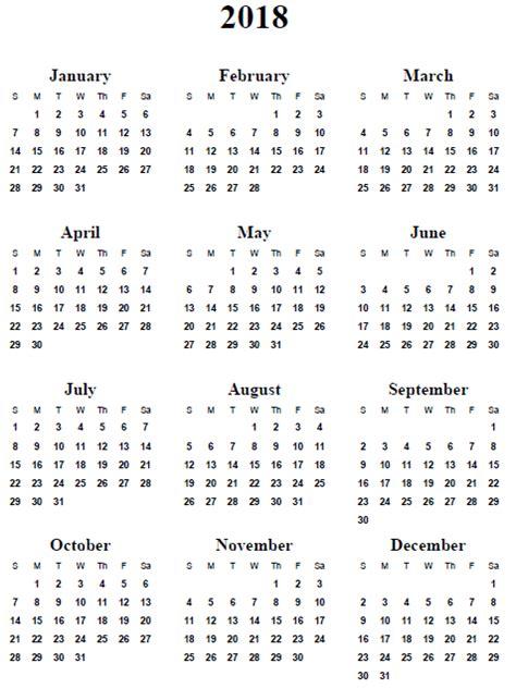 printable calendar year at a glance 2018 2018 calendar printable 2017 printable calendar