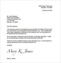 Acceptance Letter For Divorce 7 Acceptance Letter Sle A Cover Letters