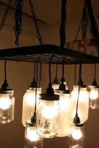 mason jar home decor ideas mason jar chandelier via shelterness