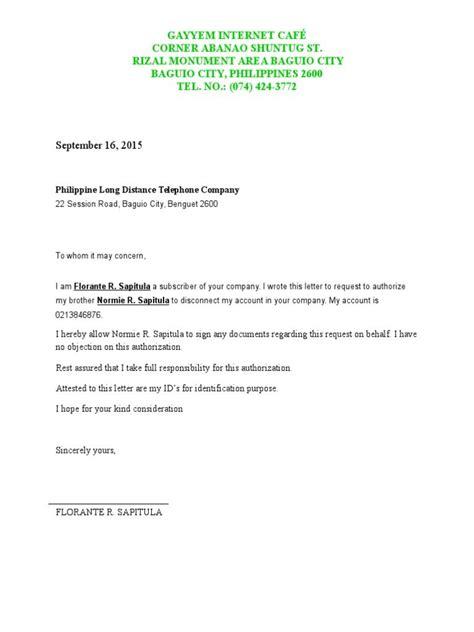 Letter Of Pldt