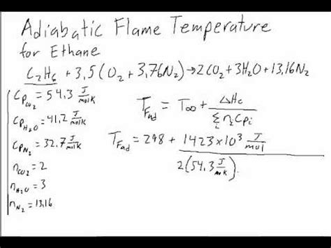 How Can Formula Stay Out At Room Temperature by Adiabatic Temperature Calculation For Ethane