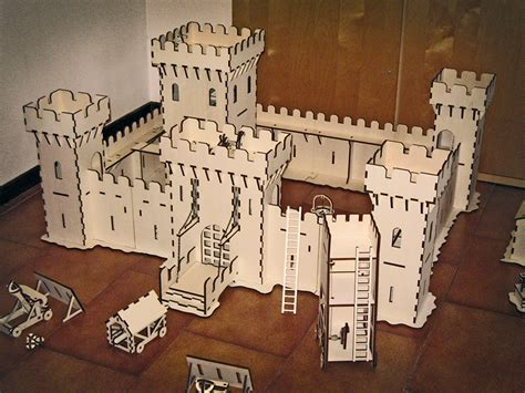 awesome laser cut castle  attack features working