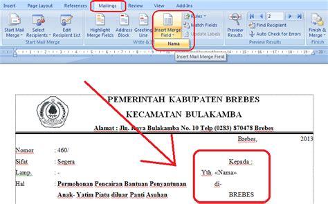 cara membuat mail merger office 2007 download undangan gratis desain undangan pernikahan