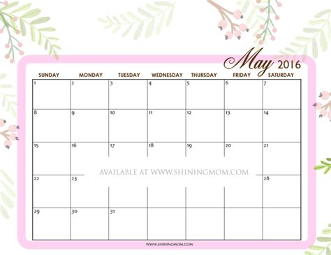 printable calendar 2016 printfree free calendars to print at home calendar template 2016