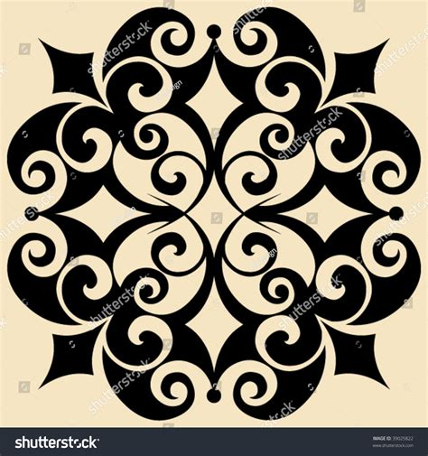 decorative baroque design elements vector baroque design element decorative vector ornament stock
