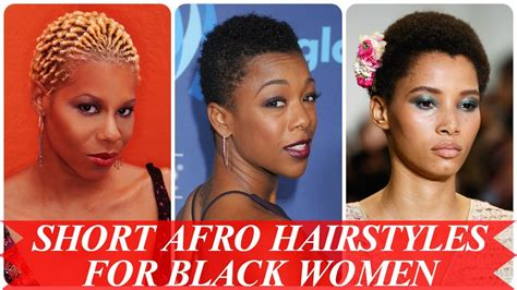 show me black hair that is good best short afro hairstyles for black women youtube
