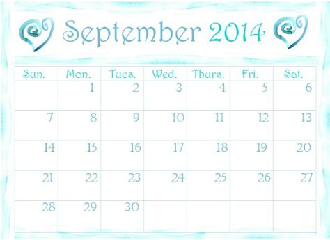 printable monthly planner september 2014 free printable calendars 2014 pretty monthly calendar