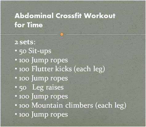 best 25 crossfit ab workout ideas on