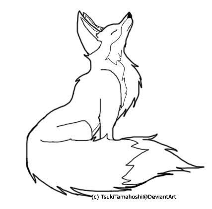 Fox Outlines by Color Me Fox Outline By Tsuki No Rakuen On Deviantart Patterns And Designs