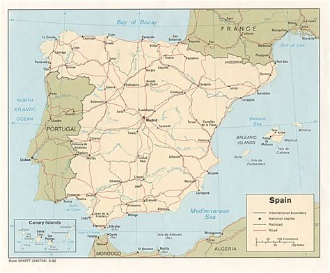 espana map spain maps perry casta 241 eda map collection ut library