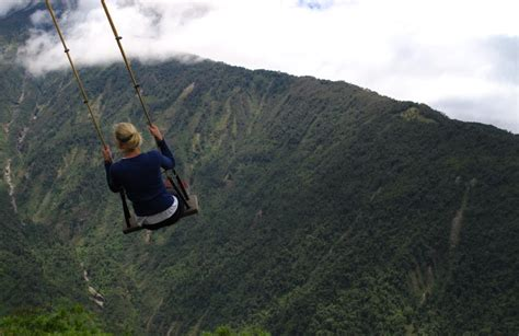 swing ecuador the exquisite ecuador and its scary swing will certainly