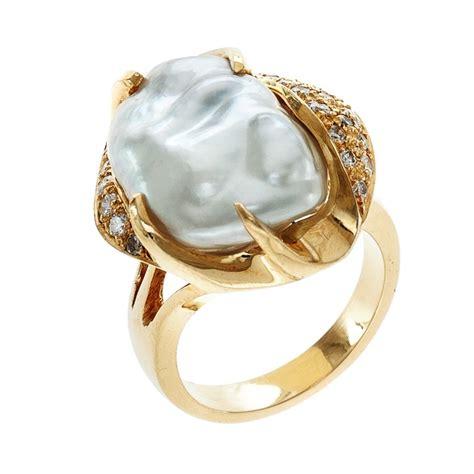 keshi pearl keshi pearl ring with diamonds