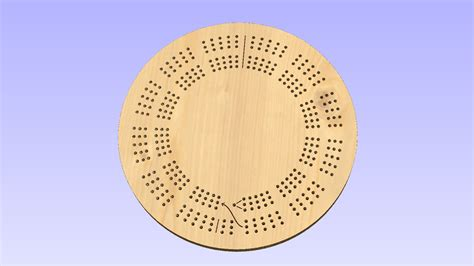 cribbage template 15 inch 3 track template
