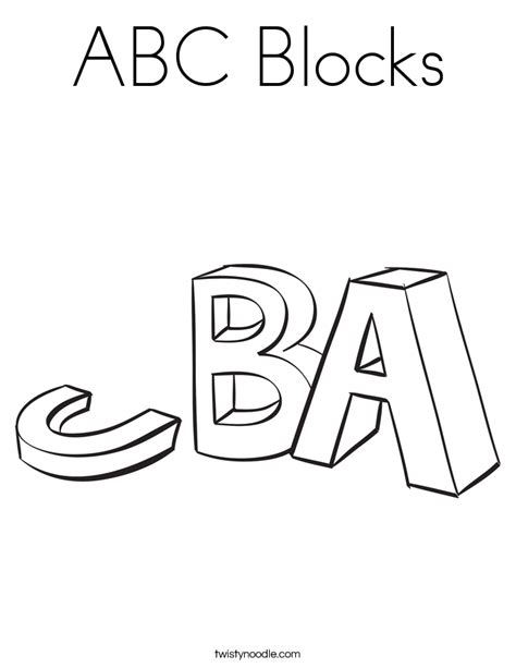 coloring pages abc blocks blocks coloring pages coloring pages