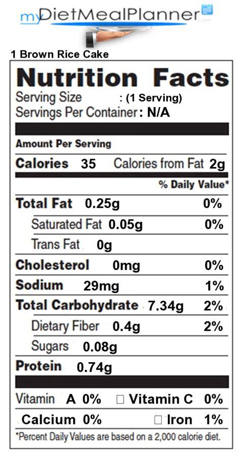 Nutrition facts Label   Pasta, Rice & Noodles 1   mydietmealplanner.com