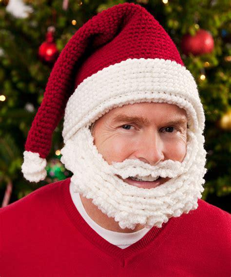 xmas hat pattern santa hat and beard crochet pattern red heart